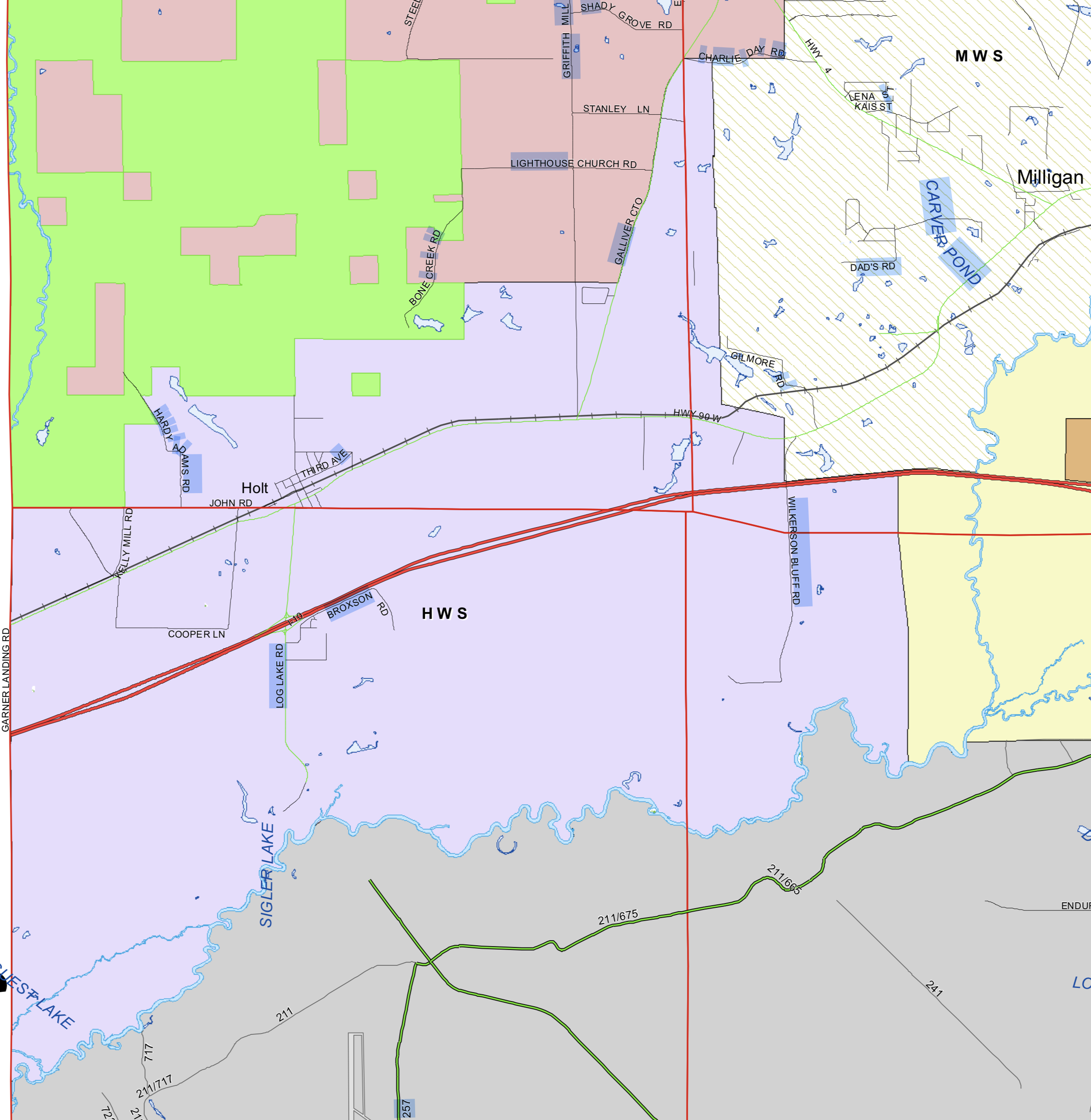 Holt Water Service Area